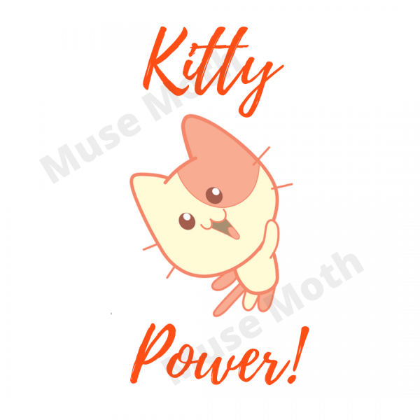Kitty Power! Red Text