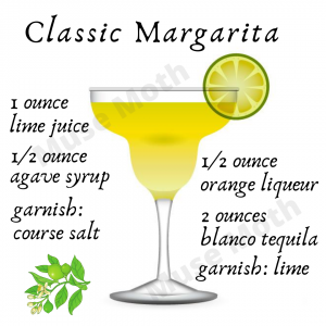 Classic Margarita Recipe Instagram post graphic