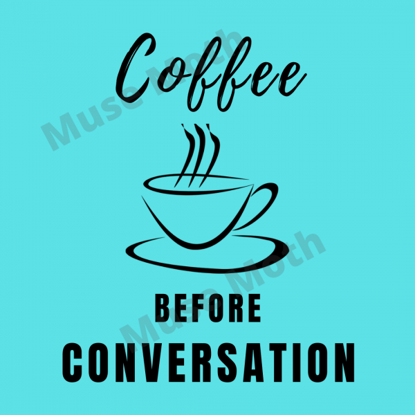 Coffee Before Conversation light blue Instagram post with watermark