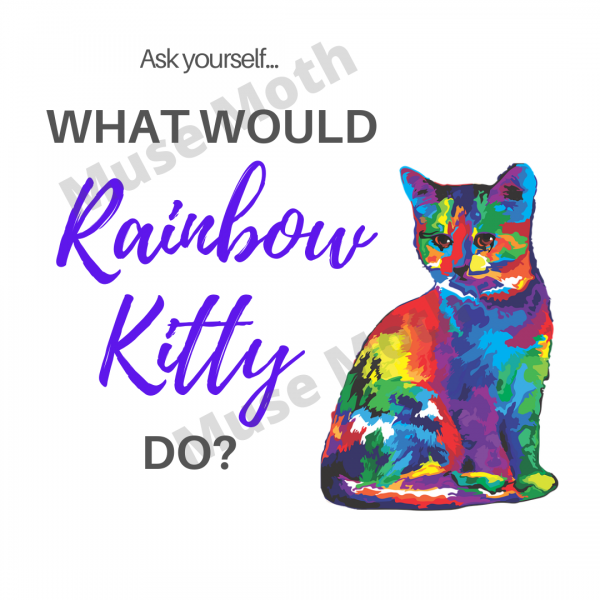 What Would Rainbow Kitty Do? Instagram post White with watermark