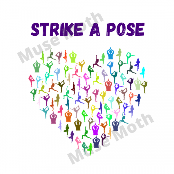 Strike a Pose Yoga Instagram white with watermark
