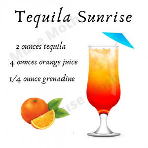 Tequila Sunrise recipe Instagram post with watermark Muse Moth