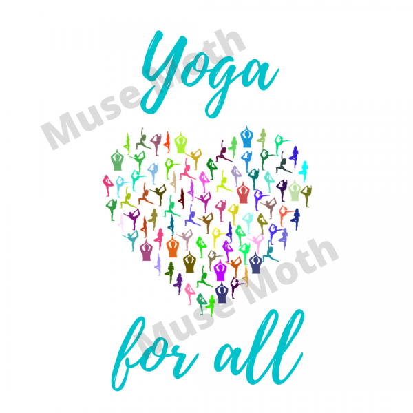 Yoga For All Light Blue Font Instagram post with watermark