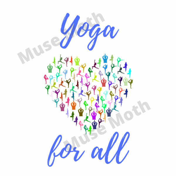 Yoga For All Blue Font Instagram post with watermark